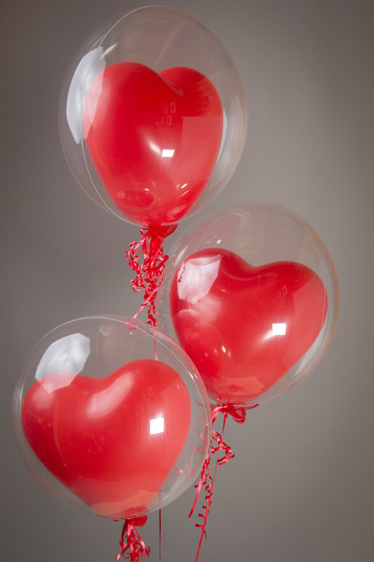 Bubble balloon valentines day